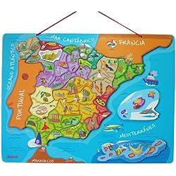 Janod - Puzzle magnético de España