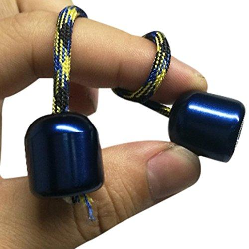 Kingko® Finger X-sports Creative Funny Hand Fidget Begleri Stainless Steel Toys Anti Stress Finger Exercise (Blue)