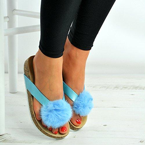 Cucu Fashion , Peep-Toe femme Bleu