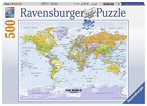 Ravensburger 14755 - Weltkarte, politisch Erwachsenenpuzzle