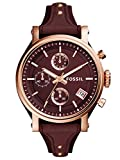 Fossil Women's Watch Analogue Quartz Leather Red ES4114