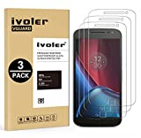 [Lot de 3] Moto G4 Plus Protection écran, iVoler Film Protection d'écran en Verre Trempé Glass Screen Protector Vitre Tempered pour Lenovo / Motorola Moto G4 Plus - Dureté 9H, Ultra-mince 0.30 mm, 2.5D Bords Arrondis- Anti-rayure, Anti-traces de Doigts,