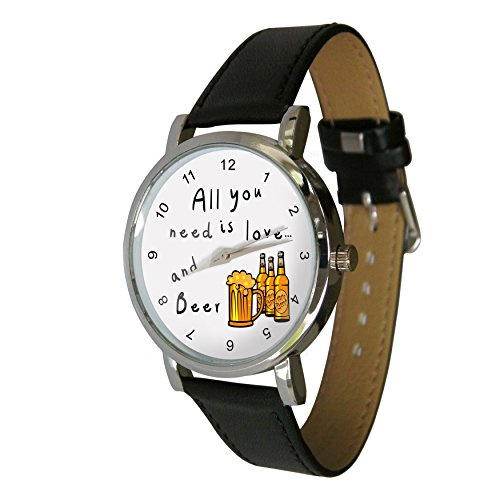 all-you-need-is-love-and-beer-design-watch-with-a-genuine-leather-strap