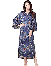 Ladies Womens Ex High Street Lightweight Wrap over Dressing gown Robe S M L