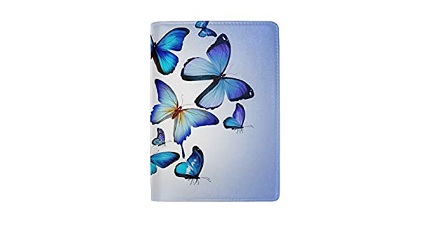 Butterfly Shine Multicolored Leather Passport Holder Cover Case Travel One Pocket