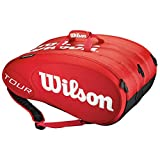 Wilson Schlägertasche Tour Molded Racketbag 15er, Rot, One size, 0073250184200000