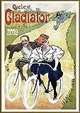 Pixiluv 2019Calendrier Mural [12Pages 20,3x 27,9cm] Vélo de Voyage de vélo Vintage ADS Poster