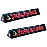 Toblerone Dark 2 Packs Of 100gms Swiss Chocolates, Free ChoocKick Eco Friendly Pen