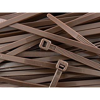 200 x braun Kabelbinder 300 mm X 4,8 mm Reißverschluss Kreativkräfte AllTrade Direct Kabelbefestigung alle Größen