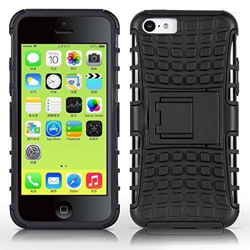 Coque iPhone 5C Coque incassable | JammyLizard | [ ALLIGATOR ] Coque rigide back cover incassable anti choc coque pour iPhone 5C, noir