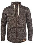 !Solid Luki Herren Fleecejacke Sweatjacke Jacke Mit Stehkragen Und Melierung, Größe:XXL, Farbe:Coffee Bean Melange (8973)