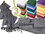 Frottiertücher der Serie Opal - erhältlich in 33 modernen Farben und 7 verschiedenen Größen -Markenqualität von Dyckhoff, 1 Pack (3 Stück) - Seiftücher [30 x 30 cm], anthrazit