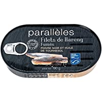 Parallèles Filets de hareng fumés poivre noir et huile de tournesol La boite de 190g - Prix Unitaire - Livraison...