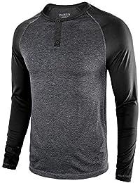 0acf9e5b745f17 Men s Casual Slim Fit Long Sleeve T-Shirt Basic Henley Baseball Raglan  Shirts - Lightweight
