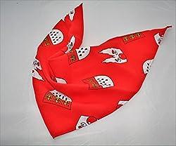 Dreieckstuch Köln rot mit Wappen und Dom Aufdruck Kölle Alaaf Karneval Halstuch