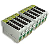 8 Compatible Printer Ink Cartridges for Epson Stylus SX218 - Black