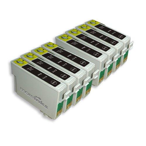 8 Epson Stylus Office BX300F Kompatible Druckerpatronen Schwarz - PATRONEN MIT NEUESTEN...