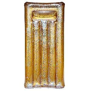 Colchón Hinchable con Lentejuelas Doradas 181 cm