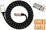 #2: Regor TYPE-C cable, 5 Ft/1.5Mtr, RUGGED Connectors,Nylon Braided for Type-C Devices,NOT A MICRO USB