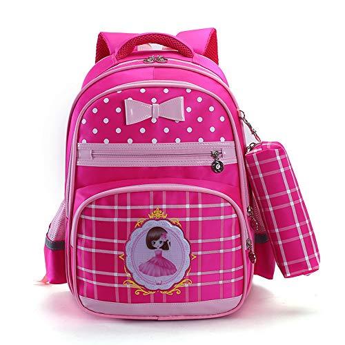 CPDSO Schultasche Kindermode Rucksäcke Schöne Schultasche Für Mädchen Candy Farbe Grundschüler Tasche Satchel Rose Rot - Candy Satchel