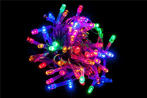 LED Lichterkette 10 Meter 8 Modi 100 LEDs verlängerbar Festbeleuchtung innen aussen Fensterdekoration 7 Watt mehrfarbig bunt