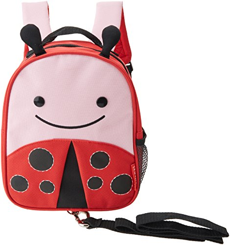 Skip Hop Zoo Safety Harness Ladybug - school bags (Backpack, Any gender, Toddler & preschool, Black, Pink, Red, Image, Mesh pocket)
