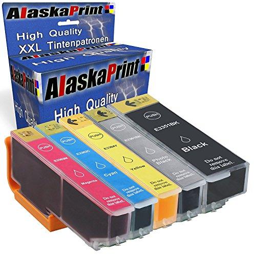 5x Tintenpatronen Kompatibel für Epson 33XL 33 XL für Epson Expression Premium XP-530 XP-540 XP-630 XP-635 XP-640 XP-645 XP-830 XP-900 T3351xl T3361xl T3362xl T3363xl T3364xl Druckerpatrone (1x Schwarz, 1x Foto Black, 1x Cyan, 1x Magenta, 1x Yellow)