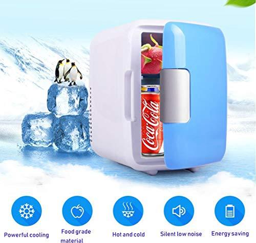 STRTT Tragbar Mini Kühlschrank, Mini Gefrierfach mit Kühl- und Heizfunktion Auto und Heimgebrauch 4LMini Kühlschrank Geeignet für Schlafzimmer, Büro, Reisen im Freien (Reise-kühlschrank Mit Gefrierfach)