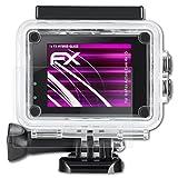 atFoliX IceFox Action Cam 4k I5 Glasfolie - FX-Hybrid-Glass Elastische 9H Kunststoff Panzerglasfolie - Besser als Echtglas Panzerfolie