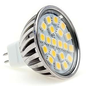 Lumilife Ampoule LED MR16 (GU5.3) - 4 watts (équiv. 35w) - Diffusion large 120° - Blanc Chaud