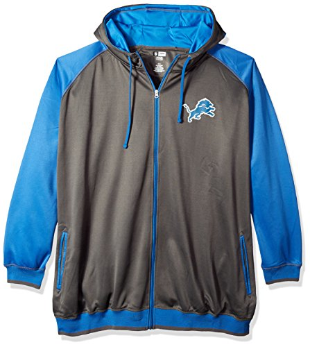 NFL Team Apparel Herren nfl7C7am Colts S/S CREW neck-char hthr-4X T, Herren, NFL7C7AM, Charcoal/Lions Blue