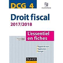 DCG 4 - Droit fiscal - 2017/2018- 9e éd. : L'essentiel en fiches