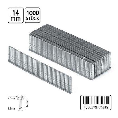 1000 Nägel für Tacker Nagler Stahlstifte Länge 14 mm