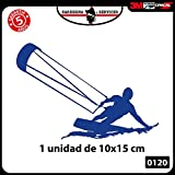 1 autocollant pour voiture-10 x 15 cm-kite-KITESUR-KITESURFING-NOUVEAUTÉ !-Accessoires auto moto camper windsurf kite kitesurfer surf decal stickers