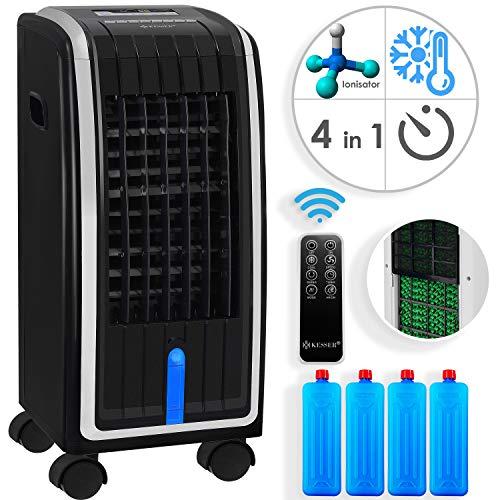 KESSER® 4in1 Mobile Klimaanlage   Fernbedienung   Klimagerät   Ventilator Klimaanlage   7 L Tank   Timer   3 Stufen   Ionisator Luftbefeuchter   Luftkühler   Schwarz/Silber