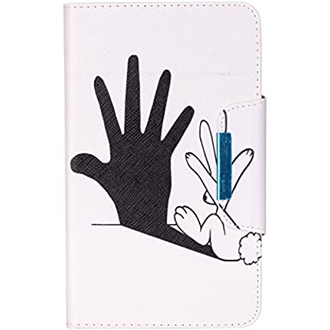 Cuitan Funda Carcasa de Cuero PU para Samsung Galaxy Tab 4 (7 inch) SM-T230, Patrón del Dibujo Tirón Protectora Carcasa Cubierta Case con Cierre Magnético y Ranuras para Tarjetas - Palma