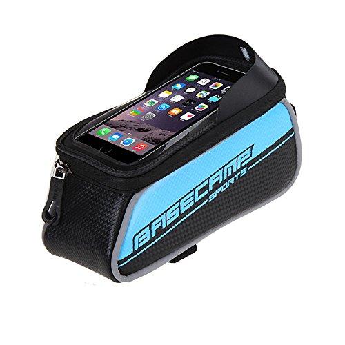 Intsun Borsa /custodia touch screen bicicletta Ciclismo anteriore per bicicletta telaio in tubo superiore sacchetto in PVC trasparente con la linea di estensione audio per 5 iphone 6s plus / iphone 6 plus / iphone 6s / iphone 6, 5S / 5 / 5C / 4S / 4, Samsung Galaxy s6 edge/ s6 edge+/S4 / S3