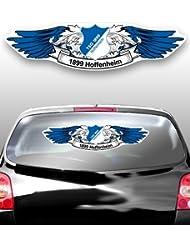 AUTO HECKSCHEIBEN AUFKLEBER TSG 1899 HOFFENHEIM Wings