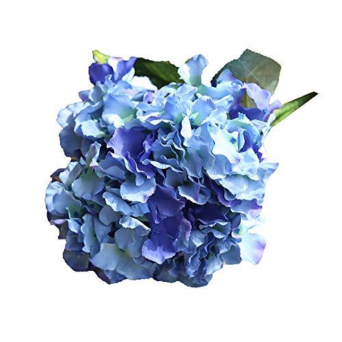 YEARNLY Künstliche Seide Hortensie-Bouquet Kunstblume Blumenstrauß Blumen-Bouquet Bridal Blume Hochzeit Home Party Dekoration 5 Köpfe Bouquet