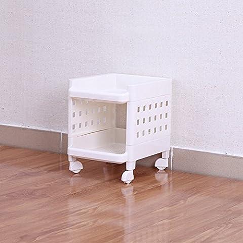 Estantes de baño/Parrillas/Estante plástico de la rueda universal móvil/Almacenaje-A