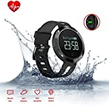 Fitness Activity Tracker,Smart Bracelet with Heart Rate Monitor, Blood Pressure Monitor, Sleep Monitor, Bluetooth Wireless Wristband with Pedometer/Calorie Counter/Call Alert,Waterproof Sport Watch Smartband for Android IOS