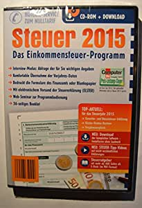 Aldi Steuerprogramm Einkommenssteuer 2015 - Steuer CD