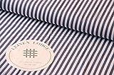 Leinen Lodge Webware Baumwolle Streifen DUNKELGRAU