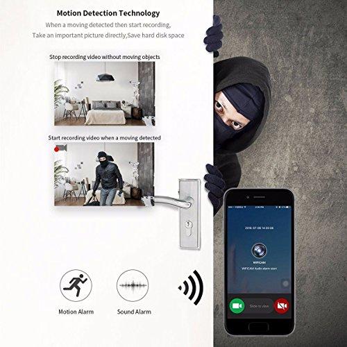 Wireless IP Überwachungskamera – ELEGIANT Mini Roboter 360 Grad Schwenkbar Drahtlose WLAN Wifi - 4