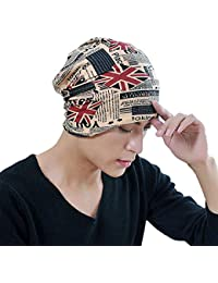 iSweven Red and Blue Flag Soft Printed Cotton Multipurpose Beanie Cap for  Women Boys and Girl 3634b8f85ef0