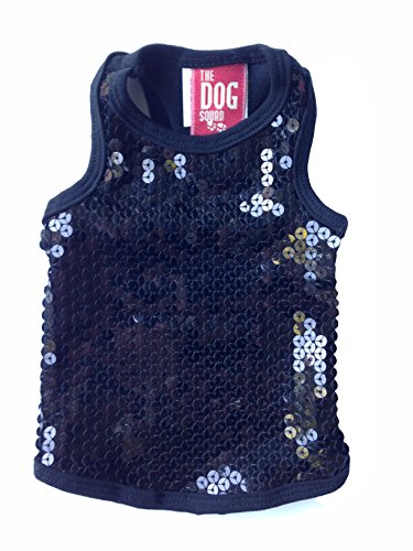 The Dog Squad On The Rocks Tank-Top für Hunde, Größe M, Schwarz -