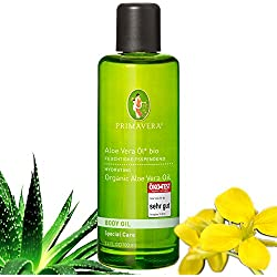 Primavera Bio Öle / Körperöl / Massageöl mit 100 % naturreinen ätherischen Ölen, Duft:Aloe Vera Öl Bio