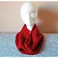 Tour de cou snood écharpe laine rouge mode automne hiver idée cadeau noël  anniversaire fait main 99ecdb7c3f0
