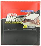 cookies_&_cream , 100 Grams : MET-Rx Big 100 Colossal Meal Replacement Bar, Super Cookie Crunch, 12 Bars, 3.52 Ounces