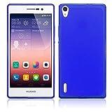 TBOC® Blau Gel TPU Hülle für Huawei Ascend P7 Ultradünn